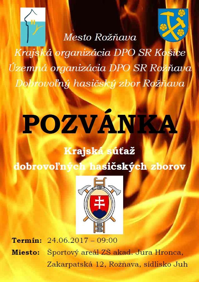 b943ce44a Krajská súťaž dobrovoľných hasičských zborov. Mesto Rožňava